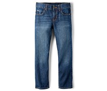 The Children's Place Boys Basic Hausky Straight Jeans, Dark Wash