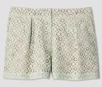 Victoria Beckham Women's Pleated Lace Short, Mint