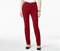 Style & Co Women's Petite Tummy-Control Straight, Red