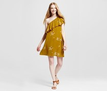 Mossimo Women's Off The Shoulder Dress, Yellow Floral