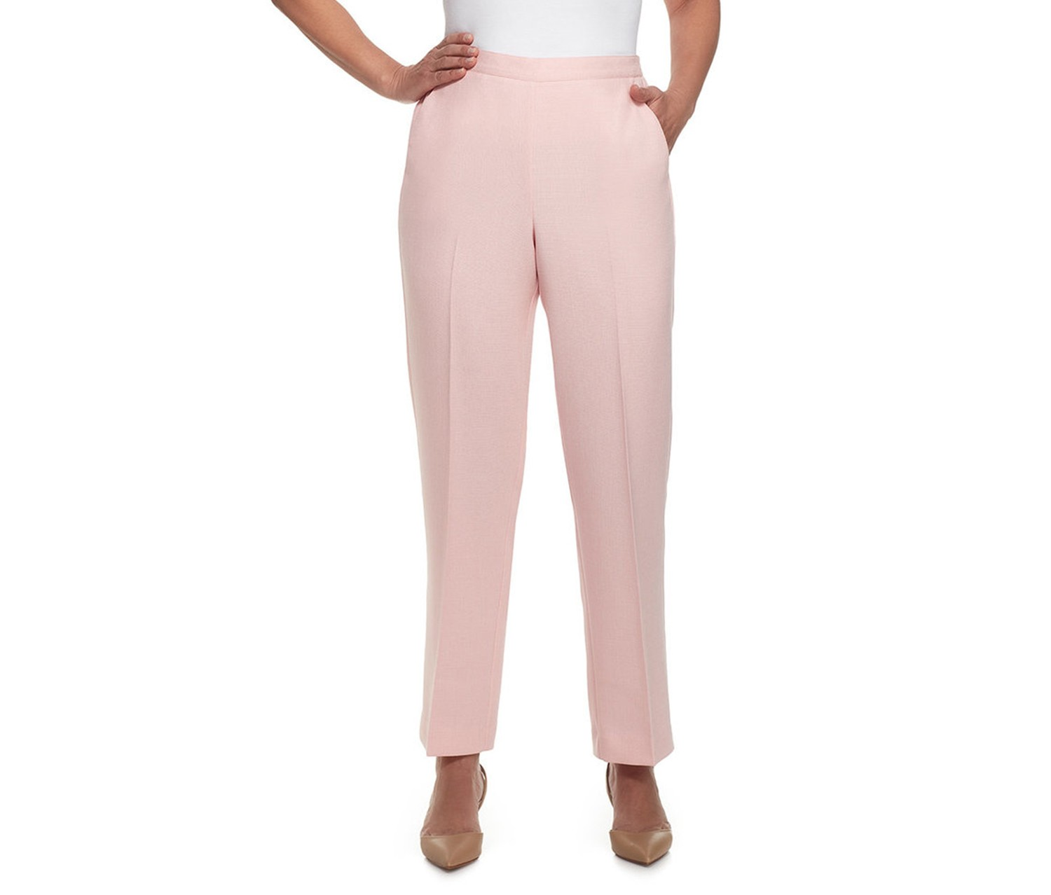Alfred Dunner Petite Hill Pull-On Pants, Rose