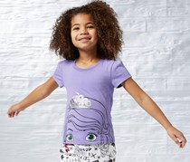 Reebok Girls Printed T-Shirt, Purple