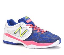 New Balance Women's Tennis Shoes, Blue/White/Fushia