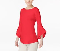 Inc International Concepts Bell-Sleeve Top, Coral