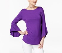 Inc International Concepts Bell-Sleeve Top, Purple