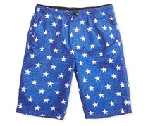 Univibe Boy's Graphic-Print Shorts, Blue