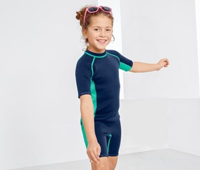 Kids Wet Suit, Blue
