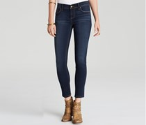 Free People Stretch Denim Skinny Jeans, Navy Blue