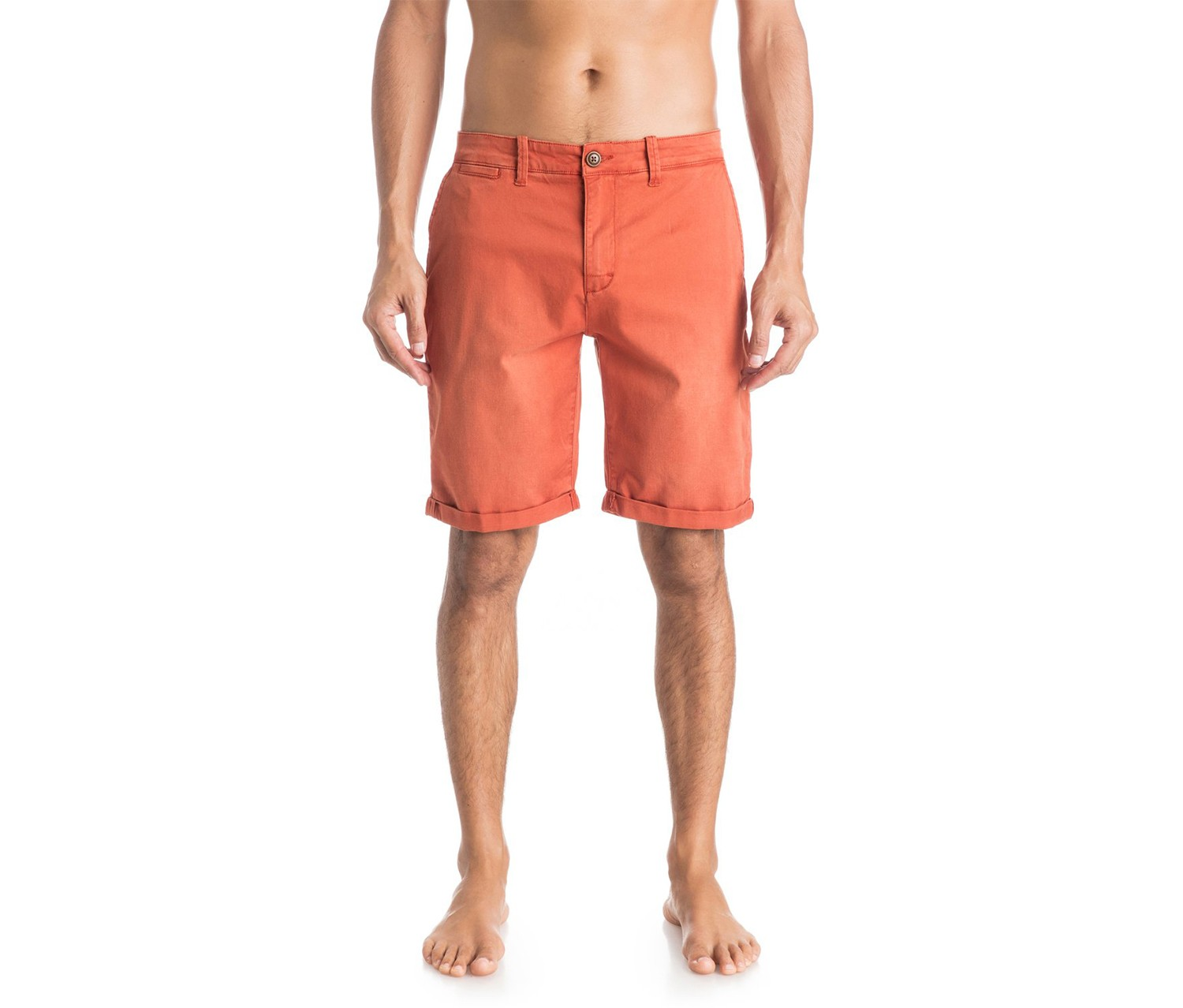 Quiksilver Men's Krandy Chino Shorts, Orange