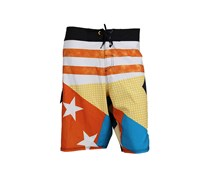 Quiksilver Men's Swim Trunk, White/Orange/Blue
