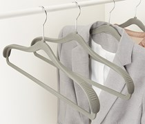 Hangers with shoulder reinforcement, Set of 4, Grey