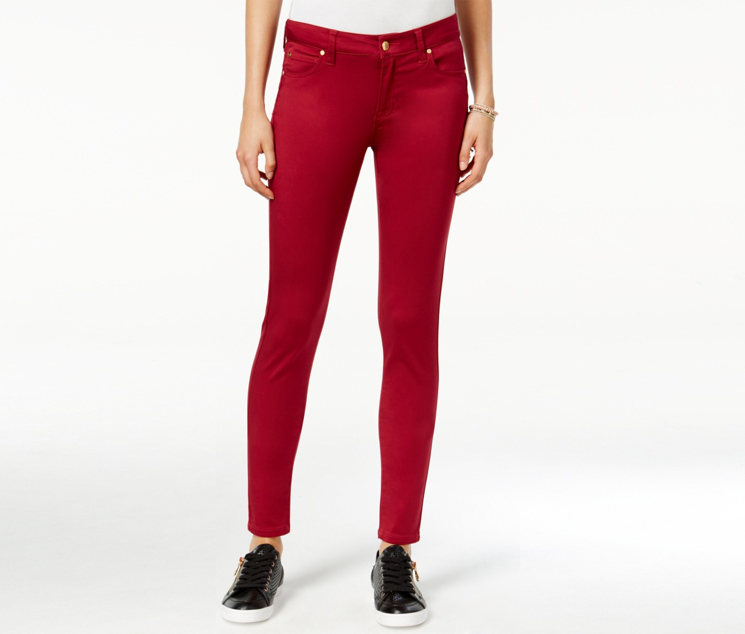 Celebrity Pink Women's Skinny Jeans, Red