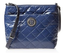 Voyage Nylon Quilted Cross Body, Navy Blue