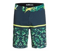 Quiksilver Kids Boys Board Shorts, Sulfur Spring, Black/Green