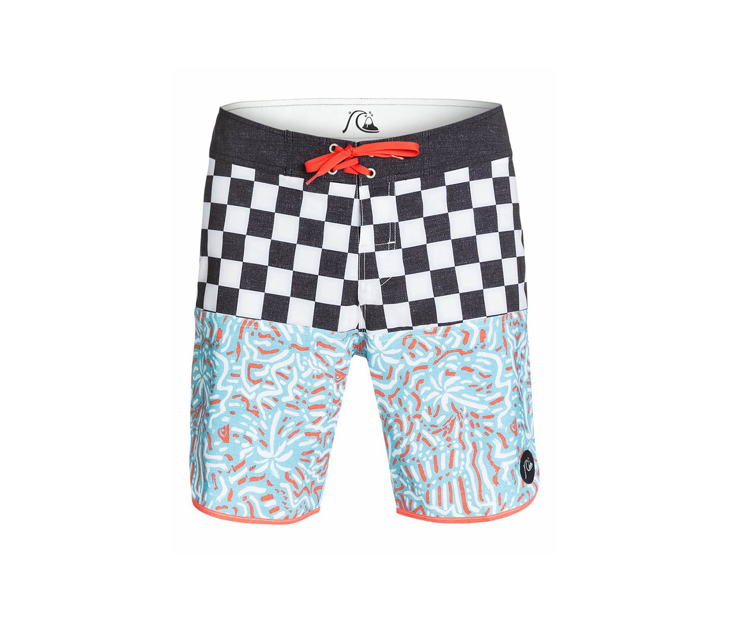 Quiksilver Men's Swim shorts, Black/Blue/Orange