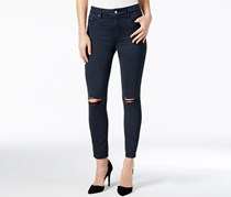 Calvin Klein Jeans Ripped Colored Wash Skinny Jeans, Navy