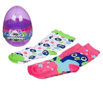 Hatchimals Girls Eggs Crew Socks, Hot Pink Draggle