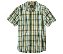 Prana Men's Short Sleeve Shirt, Beige/Green