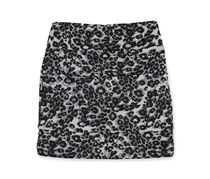 Bcx Girl Print Paneled Pencil Skirt, White/Black
