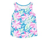 Gymboree Baby Girls Floral Tank, Teal Combo
