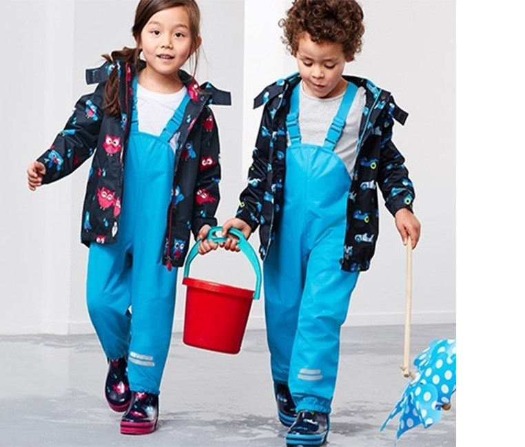Toddler Rain Pants, Turquoise