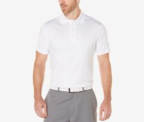 PGA Tour Men's Geo-Print Polo, Bright White