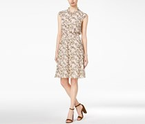 Maison Jules Printed Flutter-Detail Dress, Soft Petal Combo