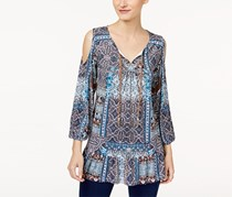 Cold-Shoulder Peasant Top, Enchanted Ruins