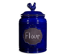 Home Essentials Rooster Canister, Royal Blue