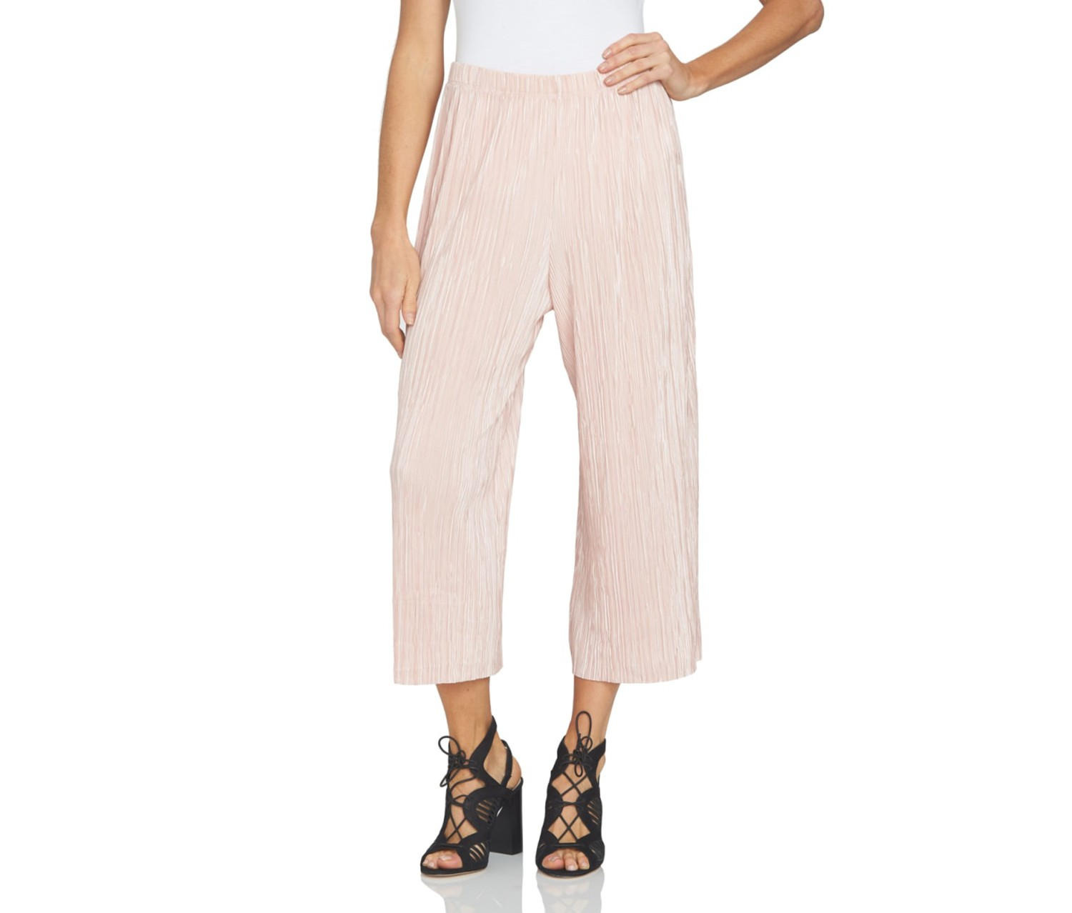 1.STATE - Pleated Culotte, Rosy Flush