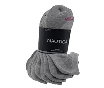 Nautica Women's Sports No Show Socks Set of 6, Grey