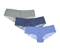 Rene Rofe Women's Three Meshes Hipsters, Ink/Blue/Grey