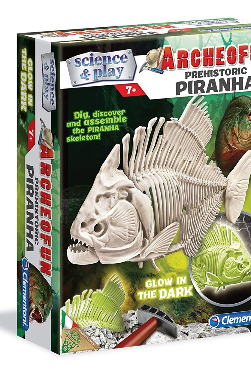 Archeofun Piranha Fascinating Glow In The Dark, White