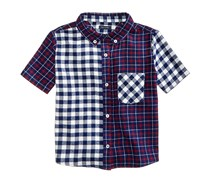 Tommy Hilfiger Mixed Plaid Shirt, Flag Blue