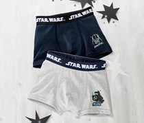 Boys Slipboxer Star Wars Set of 2, Blue/Grey