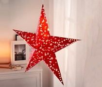 Paper Star With LED, Red