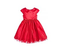 Bloome De Jeune Fille Laser Cut Special Occasion Dress, Red