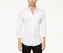 INC Mens Slim Fit Stretch Shirt, White Pure