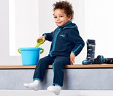 Toddlers Fleece Overall, Blue