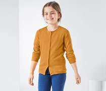 Girls Knitted Jacket, Curry