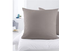 Jersey Pillowcase Set of 2, 80 x 80 cm, Grey