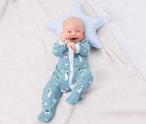Baby Sleepsuit Set of 2, Light Blue