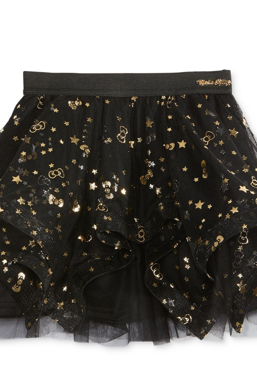 15beed27a Shop Hello Kitty Hello Kitty Gold Foil Tutu Skirt, Black for ...