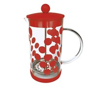 Zak Designs Dot Dot French Press 1 Liter, Red