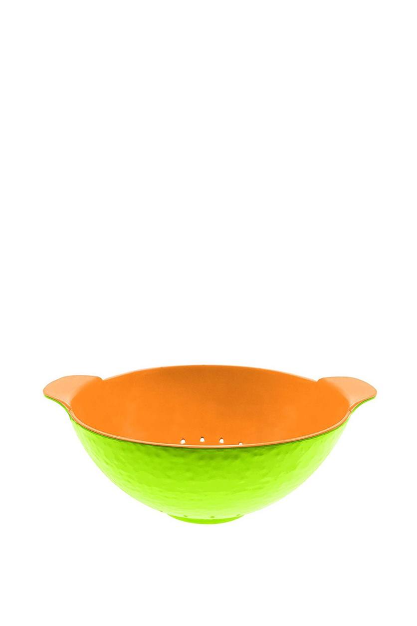 Melon Shaped Plastic Strainer, Lime/Orange