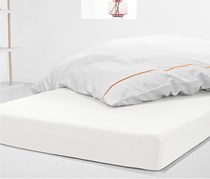Jersey Fitted Sheet 90 x 190 cm, White