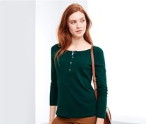 Women's Henley Shirt, Green