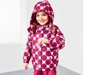 Toddler Thermal Rain Jacket, Pink