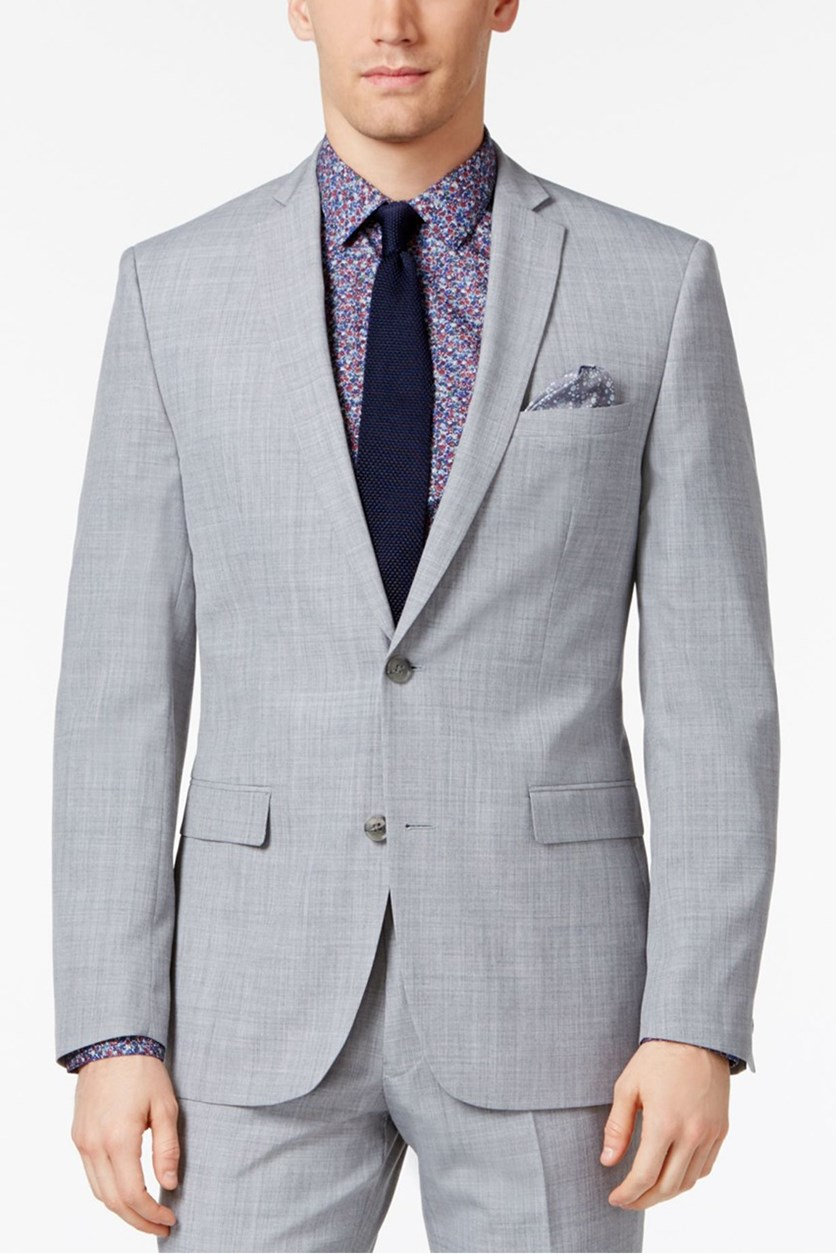 Mens Slim Fit Jacket, Light Gray
