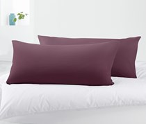 Organic Cotton Jersey Pillow Case Set of 2 80 x 40 cm, Purple